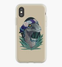 Clever Girl - Blue iPhone Case