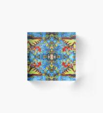 Digital Butterfly Design Acrylic Block