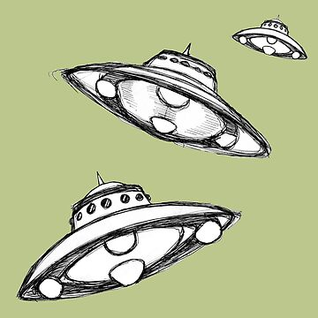 Flying Saucers Hand Drawn by WhyTee1300