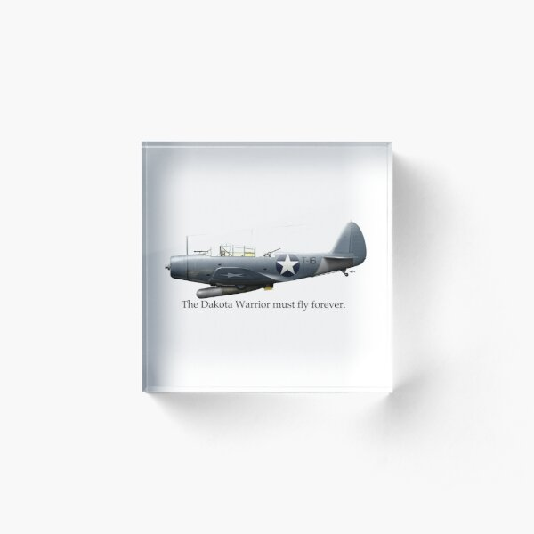 The Dakota Warrior - a Tribute to Torpedo 8 and LtCDR John Waldron Acrylic Block