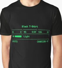 "Fallout 3 ""Black T-Shirt"" Stats Graphic T-Shirt"