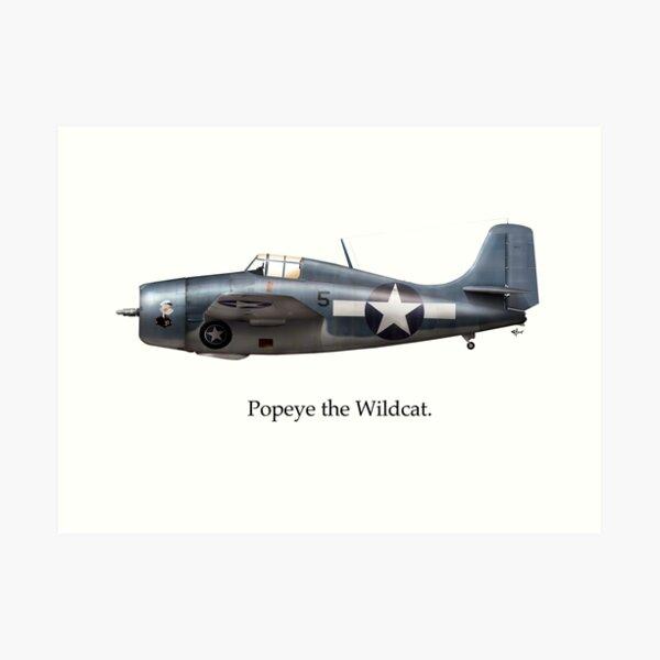 Popeye the Wildcat Art Print