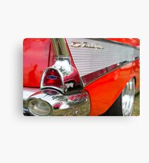 Red, chrome and blue - Belair Canvas Print