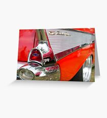 Red, chrome and blue - Belair Greeting Card