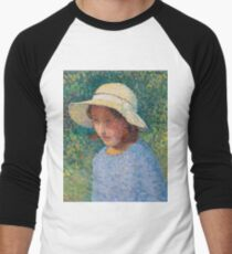 Henri Martin - Young Girl In Hat Men's Baseball ¾ T-Shirt