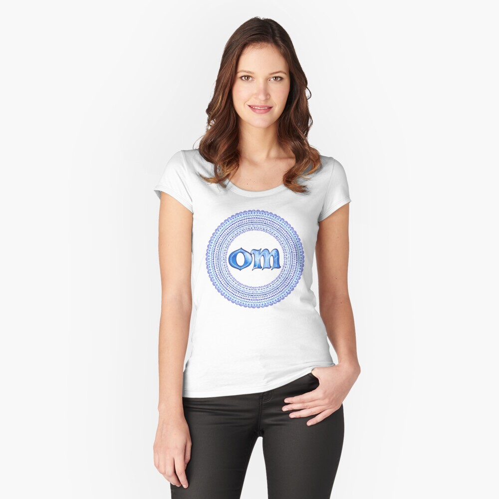 Blue OM Fitted Scoop T-Shirt