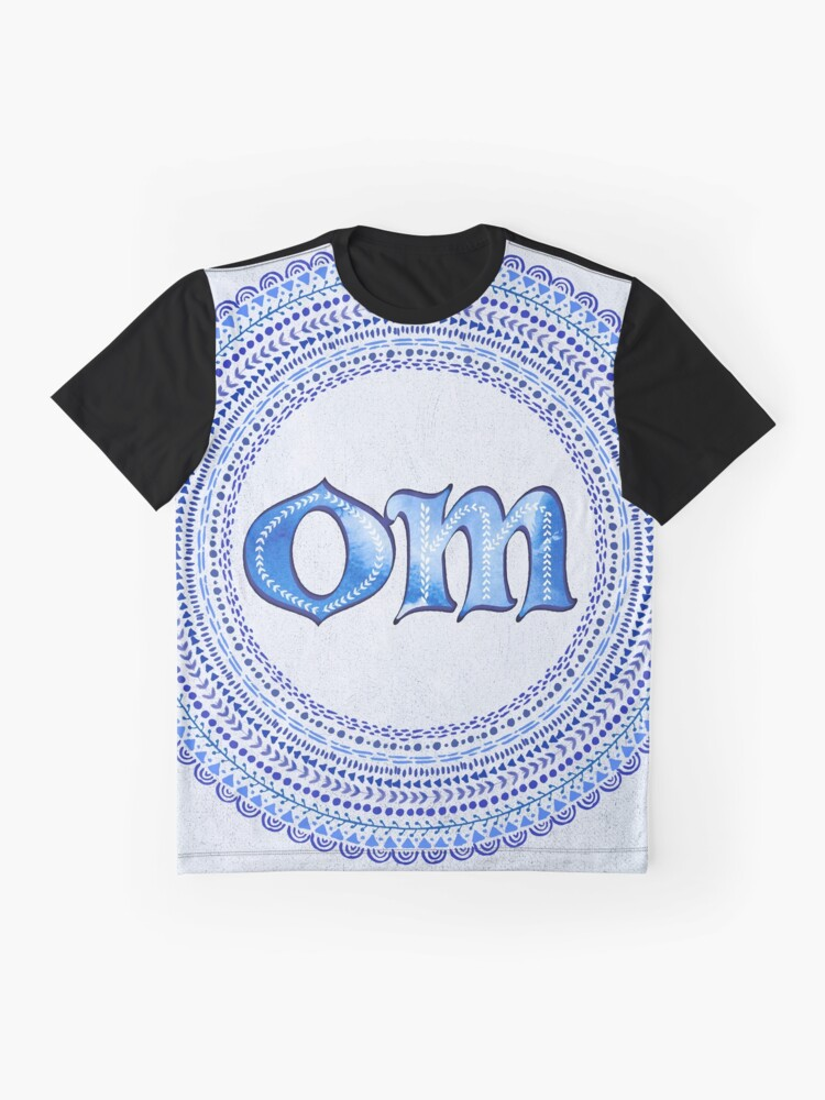 Alternate view of Blue OM Graphic T-Shirt