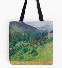 Henri Martin - The Heights Of Labastide-Du-Vert With The House Of M. Pellet Tote Bag