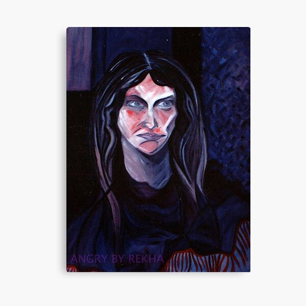 ANGRY by REKHA IYERN FE RECORDS CANADA Canvas Print