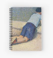 Henri Martin - The Boy Laying On The Board Of The Pool At The Garden Of Luxembourg At Paris, 1932-35 Spiral Notebook