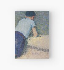 Henri Martin - The Boy Laying On The Board Of The Pool At The Garden Of Luxembourg At Paris, 1932-35 Hardcover Journal