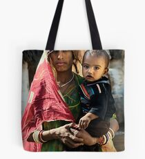 Bishnoi mother and son Tote Bag
