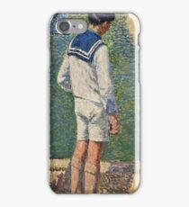 Henri Martin - Little Boy Near The Pool In Garden Of Luxembourg At Paris iPhone Case/Skin