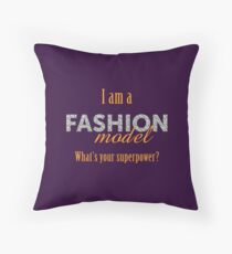 Models with Superpowers Throw Pillow