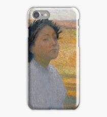 Henri Martin - Bust Of A Young Woman In A Laurel Wreath, 1890 iPhone Case/Skin