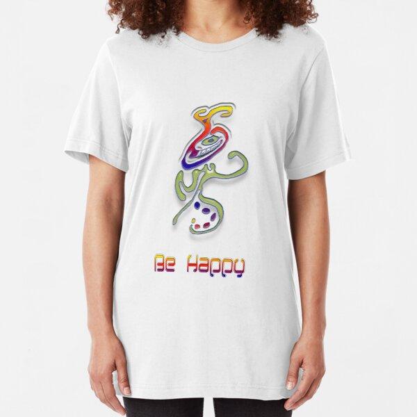 Happy Alien Slim Fit T-Shirt