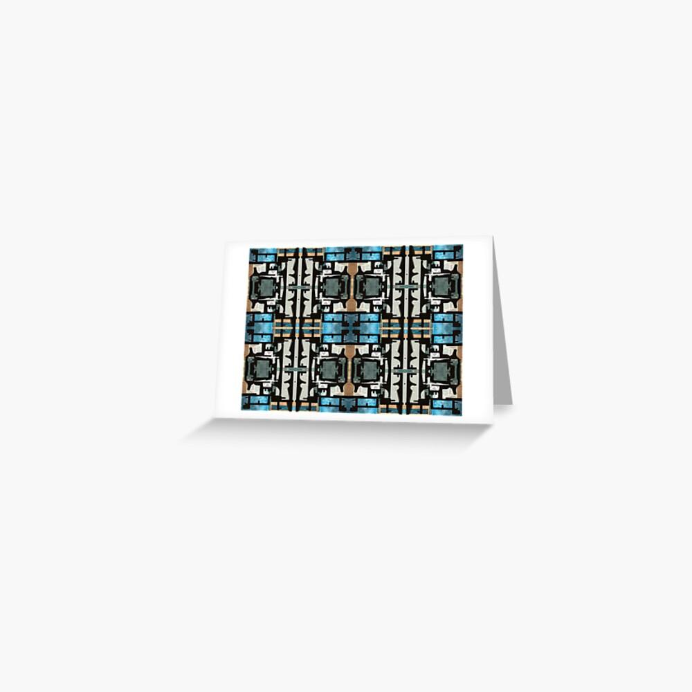Blauer Block Block Blau Grußkarte