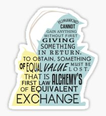 Equivalent Exchange Sticker