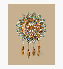 Golden Dreams Dreamcatcher Photographic Print