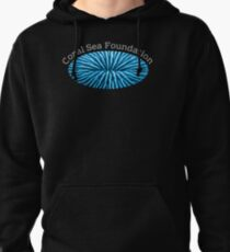 Coral Sea Foundation Logo - white text Pullover Hoodie