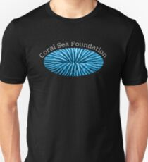 Coral Sea Foundation Logo - white text Unisex T-Shirt