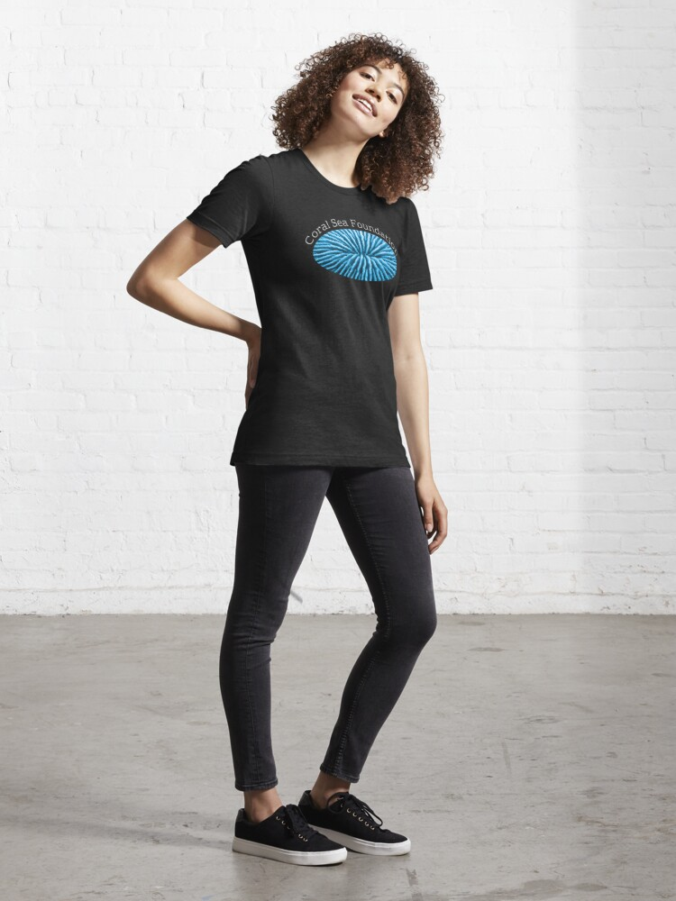 Alternate view of Coral Sea Foundation Logo - white text Essential T-Shirt