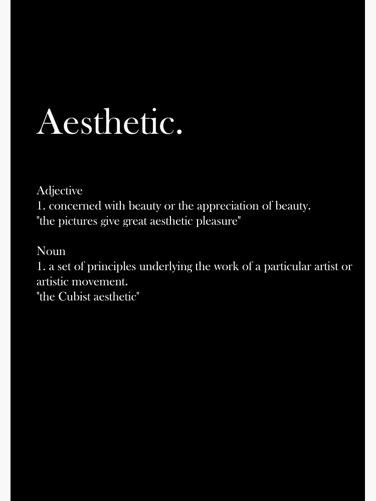Definition Of Aesthetic Posters Redbubble