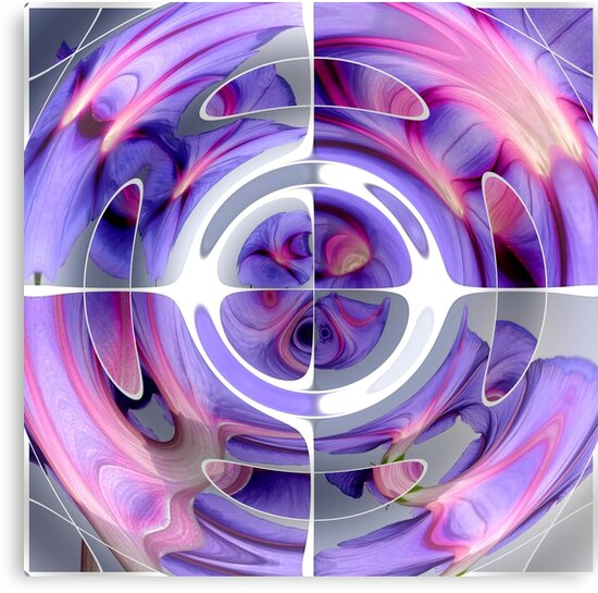 Abstract Morning Glory Collage by taiche