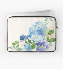 Blue Watercolor Hydrangea Laptop Sleeve