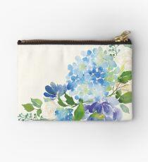 Bolso de mano Hortensia acuarela azul