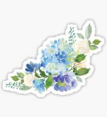 Blue Watercolor Hydrangea Sticker