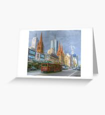 Melbourne Icons On Flinders Greeting Card