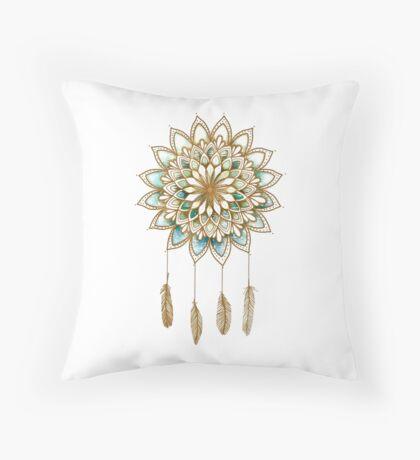 Lotus Flower Dreamcatcher Throw Pillow