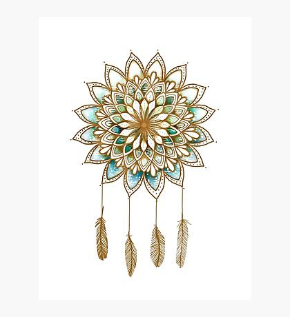 Lotus Flower Dreamcatcher Photographic Print