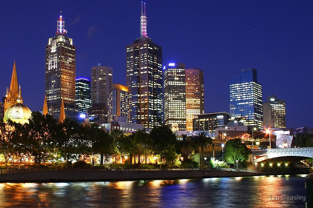 Melbourne City at dusk by Tim Beasley