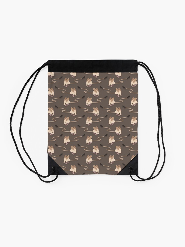 Alternate view of Long eared jerboas Drawstring Bag