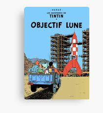 Tintin Destination Moon Cover Canvas Print