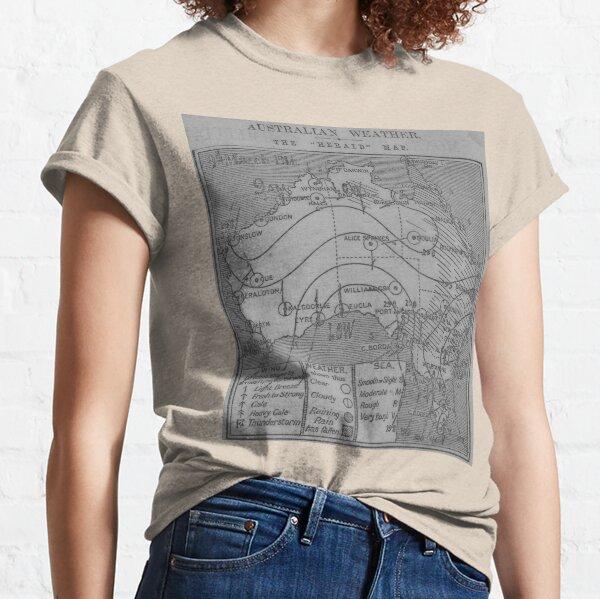 Australian Weather Map 3 March 1914 Classic T-Shirt