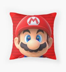 red mario Throw Pillow