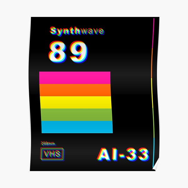 Synthwave Slip Cover Poster