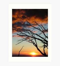 Sunset over the Victorian Alps Art Print