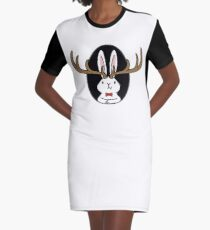 Hello Jackalope! Graphic T-Shirt Dress