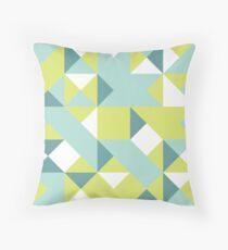 Icterine, Magic Mint & Green Sheen Abstract Pattern Throw Pillow