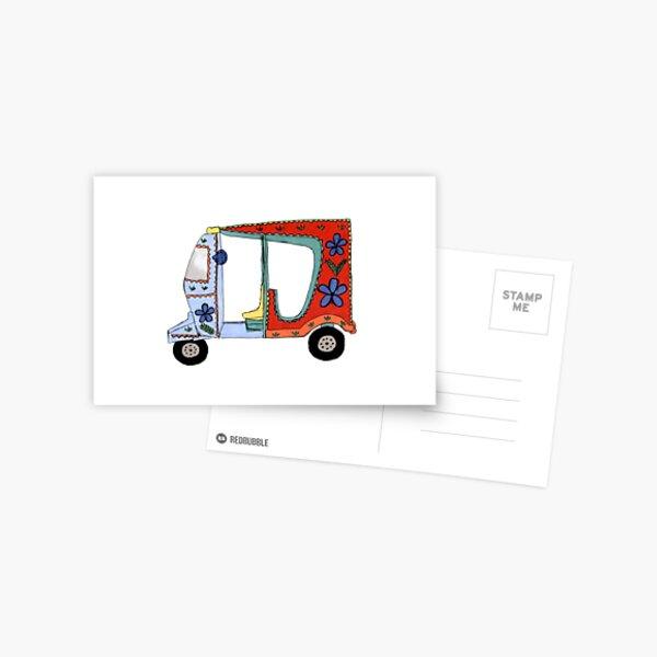Rickshaw Postcard