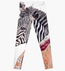 Zebra Cream Leggings