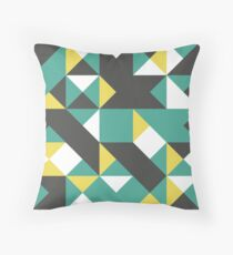 Polished Pine, Dark Liver & Minion Yellow Abstract Pattern Throw Pillow