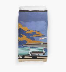 Vintage Travel  Cadillac classic car Duvet Cover
