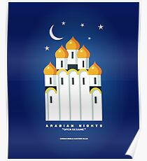 Literarische Klassiker-Illustrations-Reihe: Arabische Nächte Poster