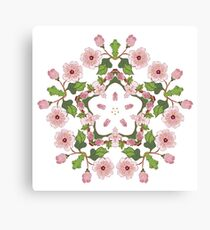 Sakura Blossom Ornament 3 Canvas Print