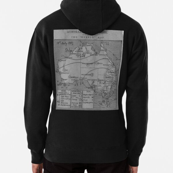 Australian Weather Map 31 July 1917  Pullover Hoodie